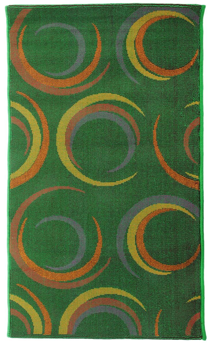 Коврик прикроватный Oriental Weavers Дaззл, цвет: зеленый, 67 х 120 см. 15037