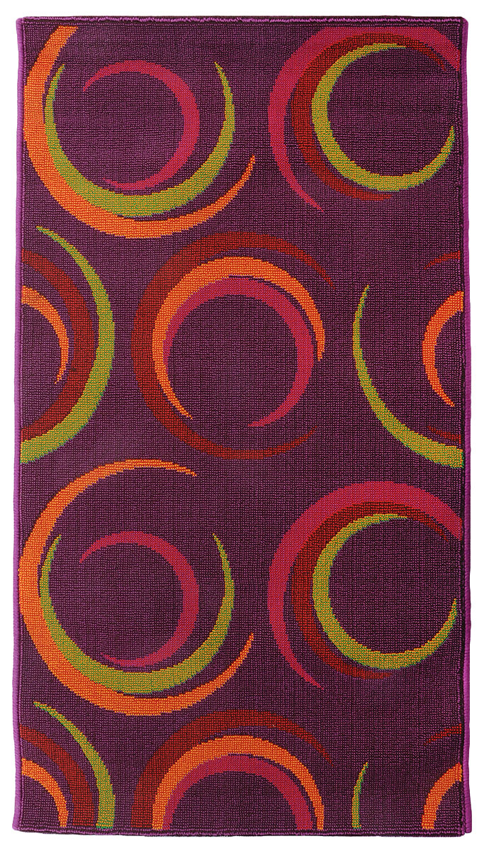 Коврик прикроватный Oriental Weavers Дaззл, цвет: фиолетовый, 67 х 120 см. 1503815038Яркая циновка с мягким и упругим ворсом - неповторимый элемент для гостиных и детских комнат. Оригинальный ковер от известной египетской фабрики Oriental Weavers подойдет для современных и классических интерьеров.