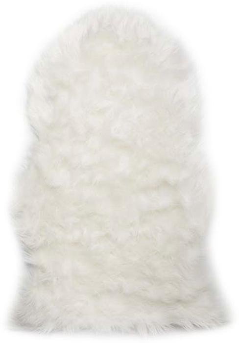 Шкура овечья Vortex, искусственная, цвет: белый, 90 х 55 см
