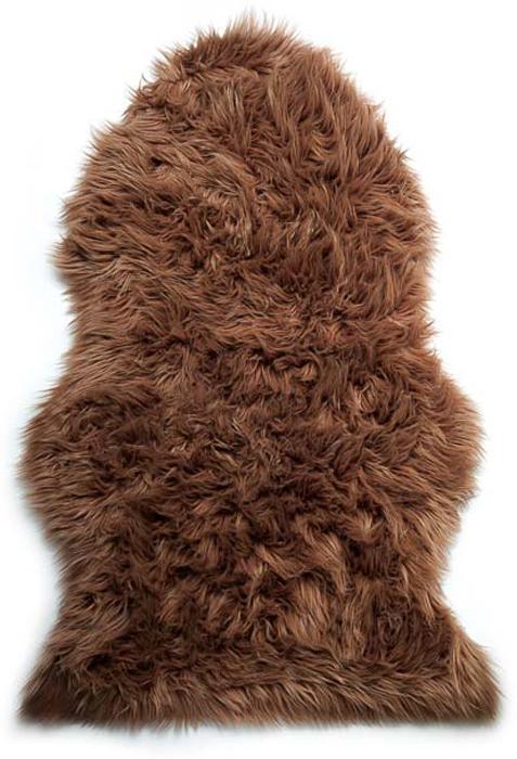 Шкура овечья Vortex, искусственная, цвет: коричневый, 90 х 55 см