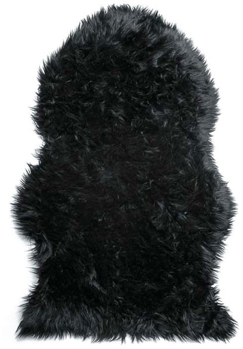 Шкура овечья Vortex, искусственная, цвет: черный, 90 х 55 см