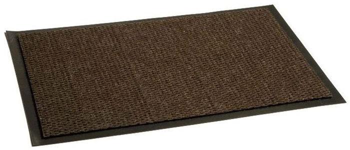 Коврик придверный InLoran Престиж, влаговпитывающий, цвет: коричневый, 50 х 80 см30-582/30203Коврик придверный InLoran выполнен из винила и полиамида. Изделие имеет иглопробивной ворс, который эффективно удерживает грязь и влагу (на 1 квадратный метр до 5 кг). Такой коврик надежно защитит помещение от уличной пыли и грязи. Легко чистится и моется.