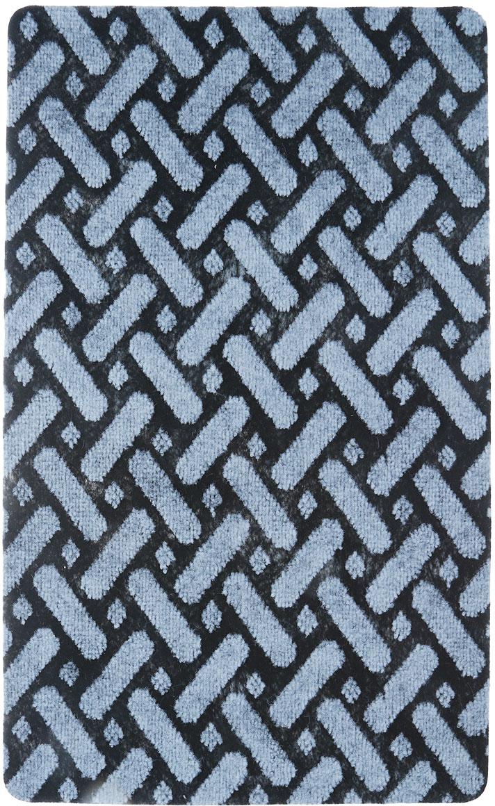 Коврик придверный Vortex Siesta, цвет: черный, серый, 50 х 80 см. 22392 коврик придверный vortex листья 76 46 см