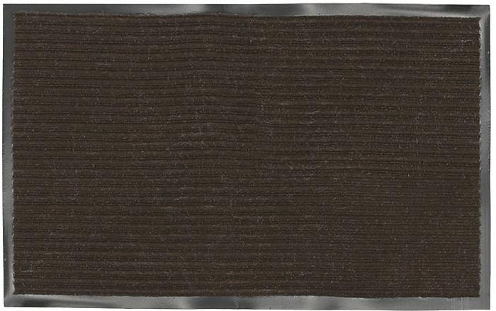 """Придверный влаговпитывающий коврик """"Vortex"""" коричневого цвета выполнен из ПВХ и полиэстера. Он прост в обслуживании, прочный и устойчивый к различным погодным условиям. Лицевая сторона коврика ребристая. Прорезиненная основа коврика предотвращает его скольжение по гладкой поверхности и обеспечивает надежную фиксацию.  Такой коврик надежно защитит помещение от уличной пыли и грязи. Характеристики:      Материал:  ПВХ, полиэстер. Размер коврика:  50 см х 80 см. Цвет:  коричневый. Изготовитель:  Китай. Артикул:  22084."""