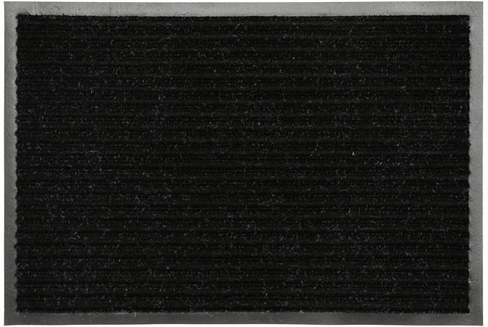 Коврик придверный Vortex, влаговпитывающий, цвет: черный, 50 см х 80 см22086Придверный влаговпитывающий коврик Vortex черного цвета выполнен из ПВХ и полиэстера. Он прост в обслуживании, прочный и устойчивый к различным погодным условиям. Лицевая сторона коврика ребристая. Прорезиненная основа коврика предотвращает его скольжение по гладкой поверхности и обеспечивает надежную фиксацию.Такой коврик надежно защитит помещение от уличной пыли и грязи. Характеристики: Материал:ПВХ, полиэстер. Размер коврика:50 см х 80 см. Цвет:черный. Артикул:22086.