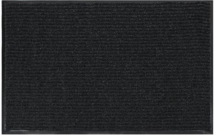 Коврик придверный Vortex, влаговпитывающий, 60 х 90 см, цвет: черный коврик vortex на ступеньку цвет черный 25 см х 75 см