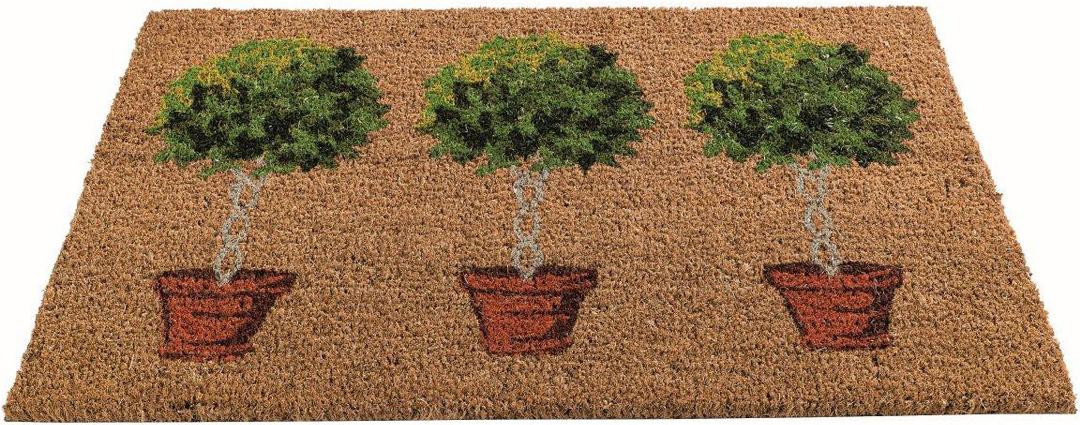 Коврик придверный Gardman Bay Tree, 45 см х 75 см82672Придверный коврик Gardman Bay Tree изготовлен из кокосового волокна с основой из ПВХ. Имеет жесткий ворс. Устойчив к любым погодным условиям. Отличается прочностью, износоустойчивостью и долгим сроком службы. Идеально подходит для создания уюта.