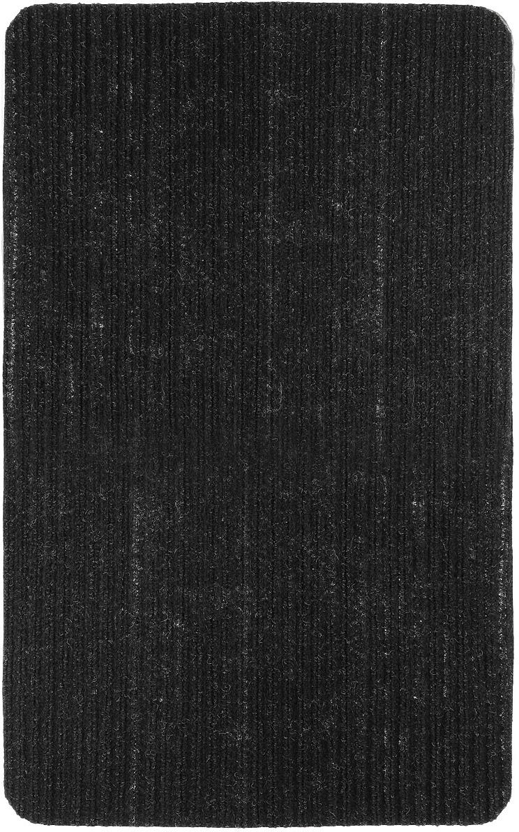 Коврик придверный Vortex Simple, цвет: черный, 50 см х 80 см коврик придверный 35х60 см черный свинка vortex 20028