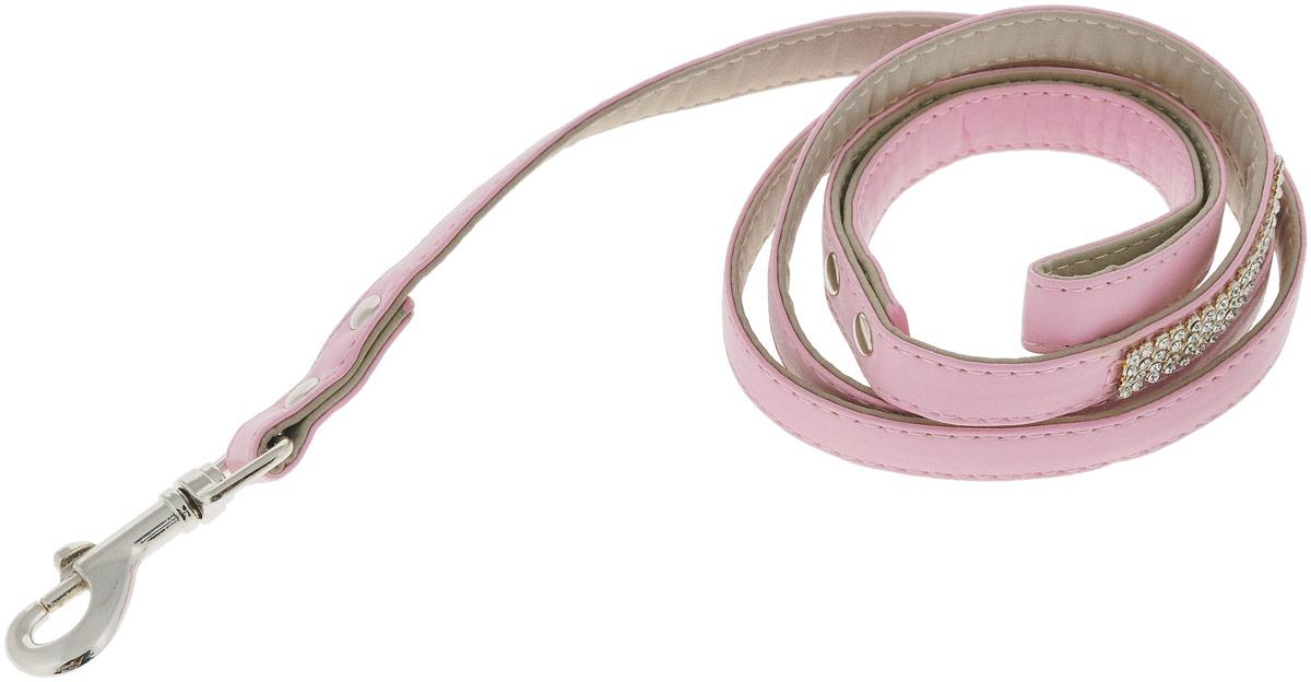 Поводок для собак GLG Silver, цвет: розовый, 1,5 х 120 смAM-DC096/FПоводок для собак GLG Silver изготовлен из искусственной кожи и снабжен металлическим карабином. Поводок отличается не только исключительной надежностью и удобством, но и оригинальным дизайном. Он идеально подойдет для активных собак, для прогулок на природе и охоты. Поводок - необходимый аксессуар для собаки. Ведь в опасных ситуациях именно он способен спасти жизнь вашему любимому питомцу. Ширина поводка: 1,5 см.Длина поводка: 1,2 м.