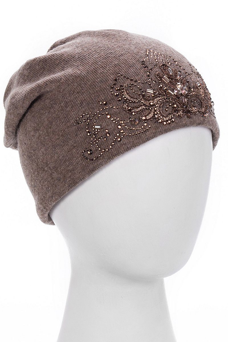 Шапка женская Level Pro Кристина, цвет: кофейный меланж. 998090. Размер 56/58998090Стильная женская шапка Level Pro дополнит ваш наряд и не позволит вам замерзнуть в холодное время года. Шапка на флисовой подкладке выполнена из пряжи сложного состава с содержанием шерсти и акрила, что позволяет ей великолепно сохранять тепло и обеспечивает высокую эластичность и удобство посадки. Изделие оформлено вышивкой и стразами. Такая шапка составит идеальный комплект с модной верхней одеждой, в ней вам будет уютно и тепло.