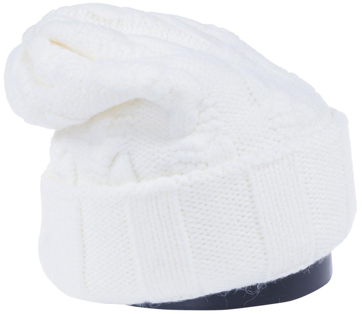 Шапка женская Vittorio Richi, цвет: белый. Aut141937V-11/17. Размер 56/58Aut141937VСтильная женская шапка Vittorio Richi отлично дополнит ваш образ в холодную погоду. Модель, изготовленная из высококачественных материалов, максимально сохраняет тепло и обеспечивает удобную посадку. Шапка дополнена ажурной вязкой. Привлекательная стильная шапка подчеркнет ваш неповторимый стиль и индивидуальность.Шапка двойная