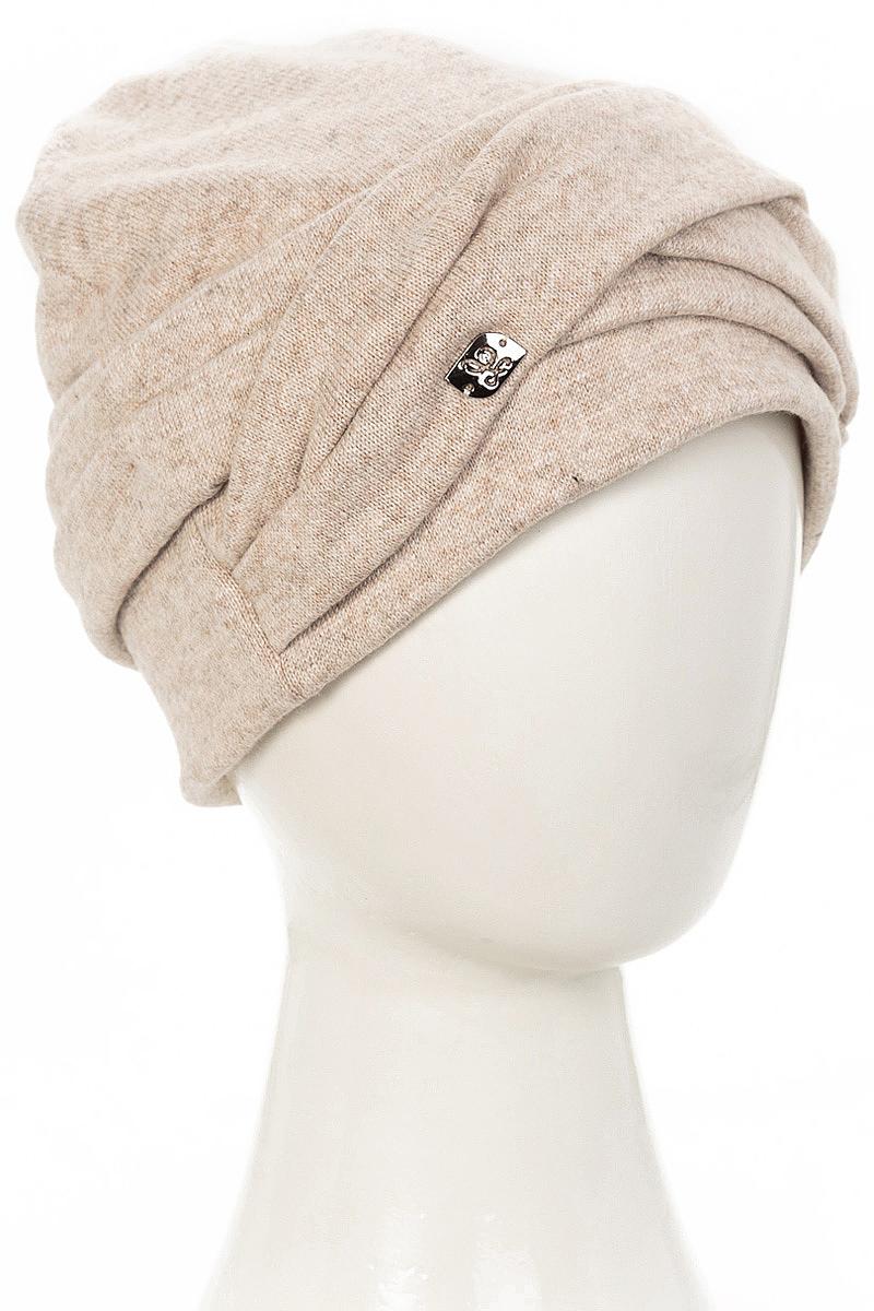Шапка женская Level Pro Зарина, цвет: бежевый меланж. 407750. Размер 56/58407750Стильная женская шапка Level Pro дополнит ваш наряд и не позволит вам замерзнуть в холодное время года. Шапка на флисовой подкладке выполнена из пряжи сложного состава с содержанием шерсти и акрила, что позволяет ей великолепно сохранять тепло и обеспечивает высокую эластичность и удобство посадки. Такая шапка составит идеальный комплект с модной верхней одеждой, в ней вам будет уютно и тепло.
