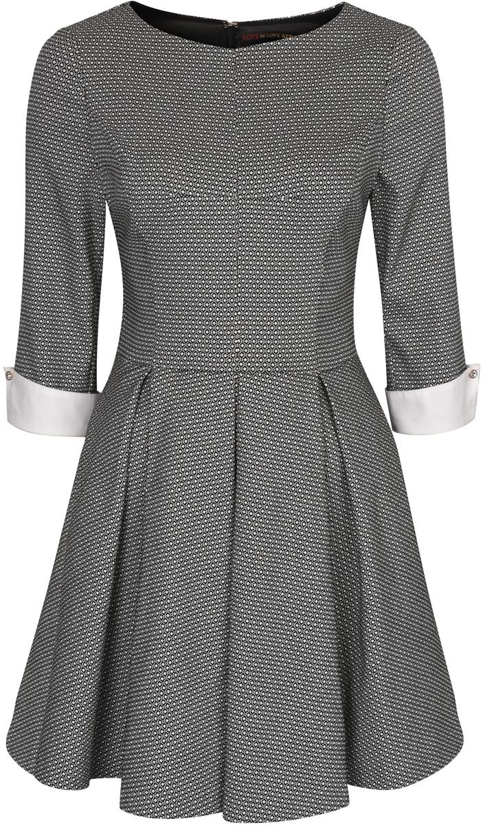 Платье Love Republic, цвет: черный. 8151403544_53. Размер 46 платье love republic love republic lo022ewachf7