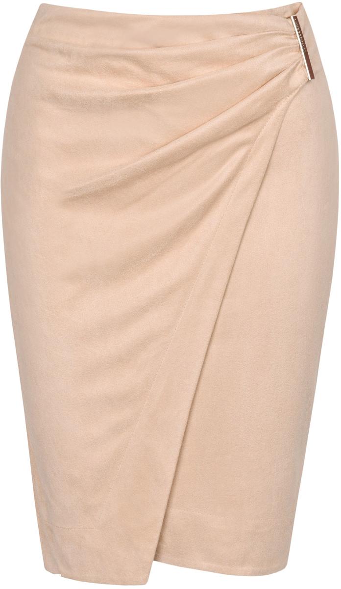 Юбка Love Republic, цвет: светло-розовый. 8151142224_92. Размер 408151142224_92Стильная юбка Love Republic выполнена из полиэстера с добавлением эластана. Модель имеет прилегающий силуэт. Изделие застегивается сзади на молнию.