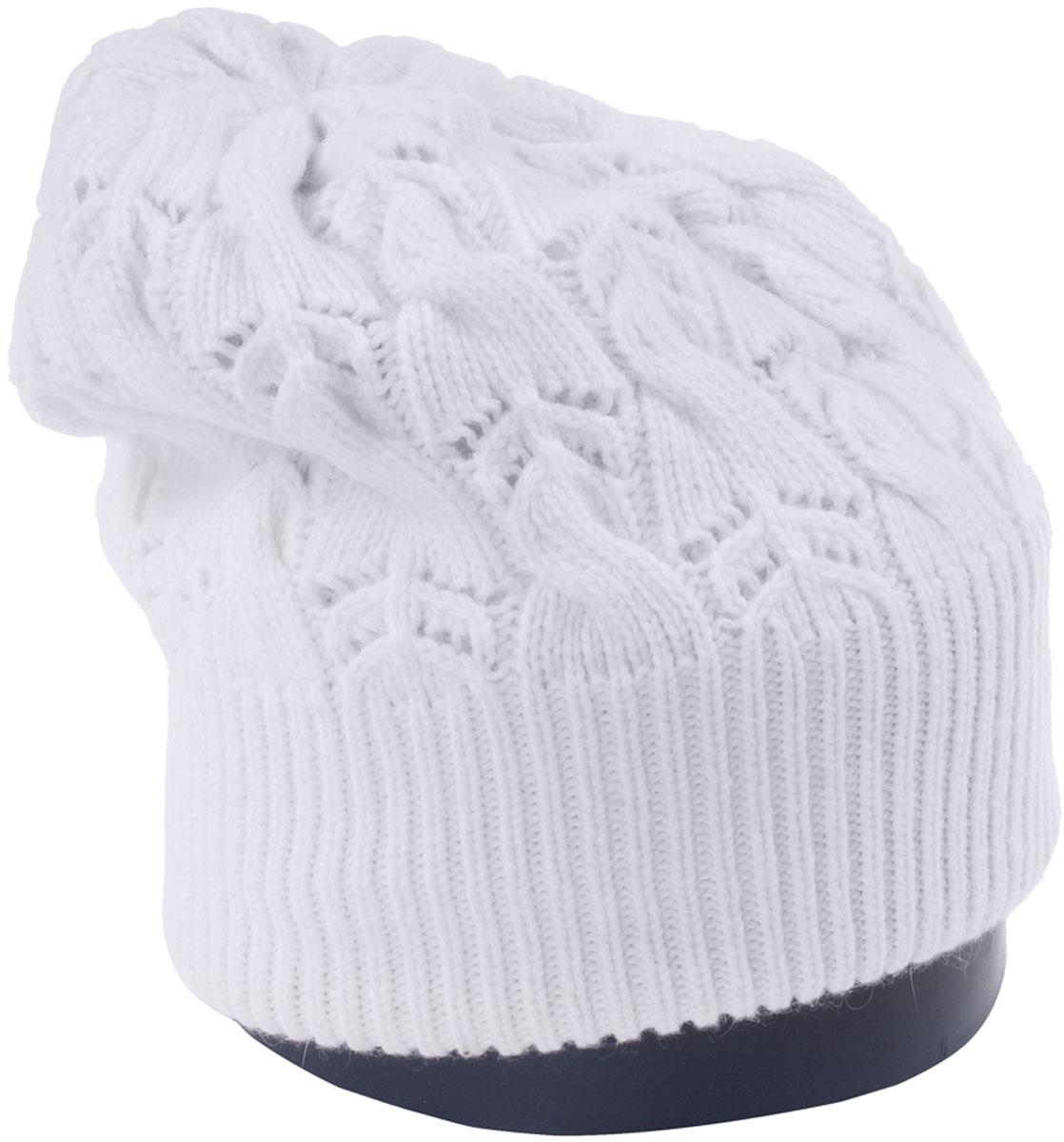 Шапка женская Vittorio Richi, цвет: белый. Aut261858L-11/17. Размер 56/58Aut261858LСтильная женская шапка Vittorio Richi отлично дополнит ваш образ в холодную погоду. Модель, изготовленная из высококачественных материалов, максимально сохраняет тепло и обеспечивает удобную посадку. Шапка дополнена ажурной вязкой. Привлекательная стильная шапка подчеркнет ваш неповторимый стиль и индивидуальность.