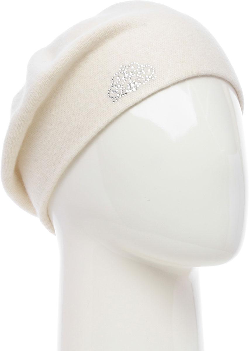 Шапка женская Vittorio Richi, цвет: белый. NSH2541986L-11. Размер 58/60 шапка женская vittorio richi цвет коралловый nsh170778 размер 58 60