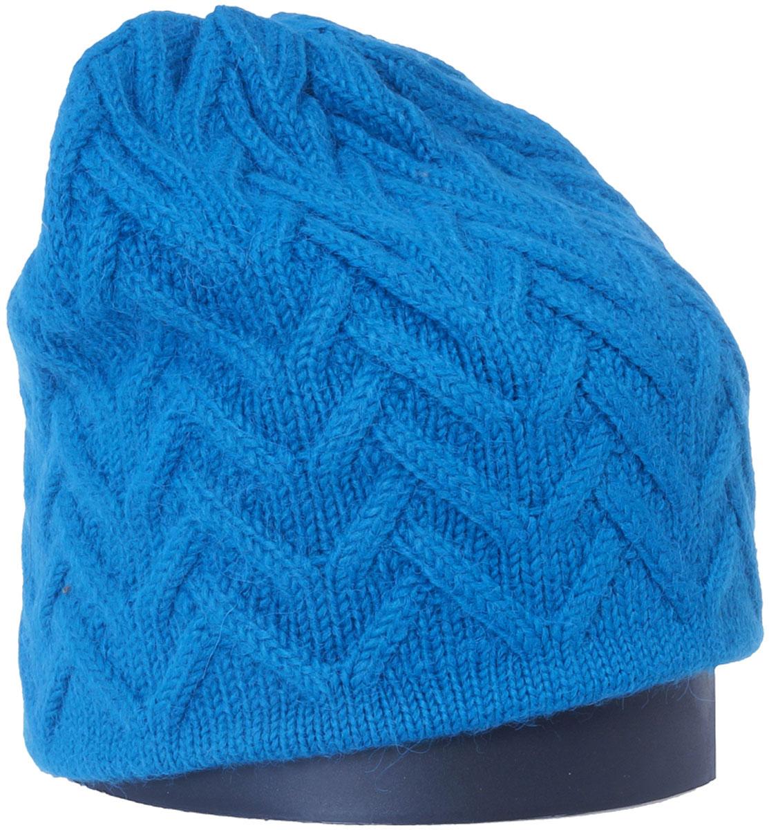 Шапка женская Vittorio Richi, цвет: бирюза. Aut141936V-19/17. Размер 56/58Aut141936VСтильная женская шапка Vittorio Richi отлично дополнит ваш образ в холодную погоду. Модель, изготовленная из высококачественных материалов, максимально сохраняет тепло и обеспечивает удобную посадку. Шапка дополнена ажурной вязкой. Привлекательная стильная шапка подчеркнет ваш неповторимый стиль и индивидуальность.