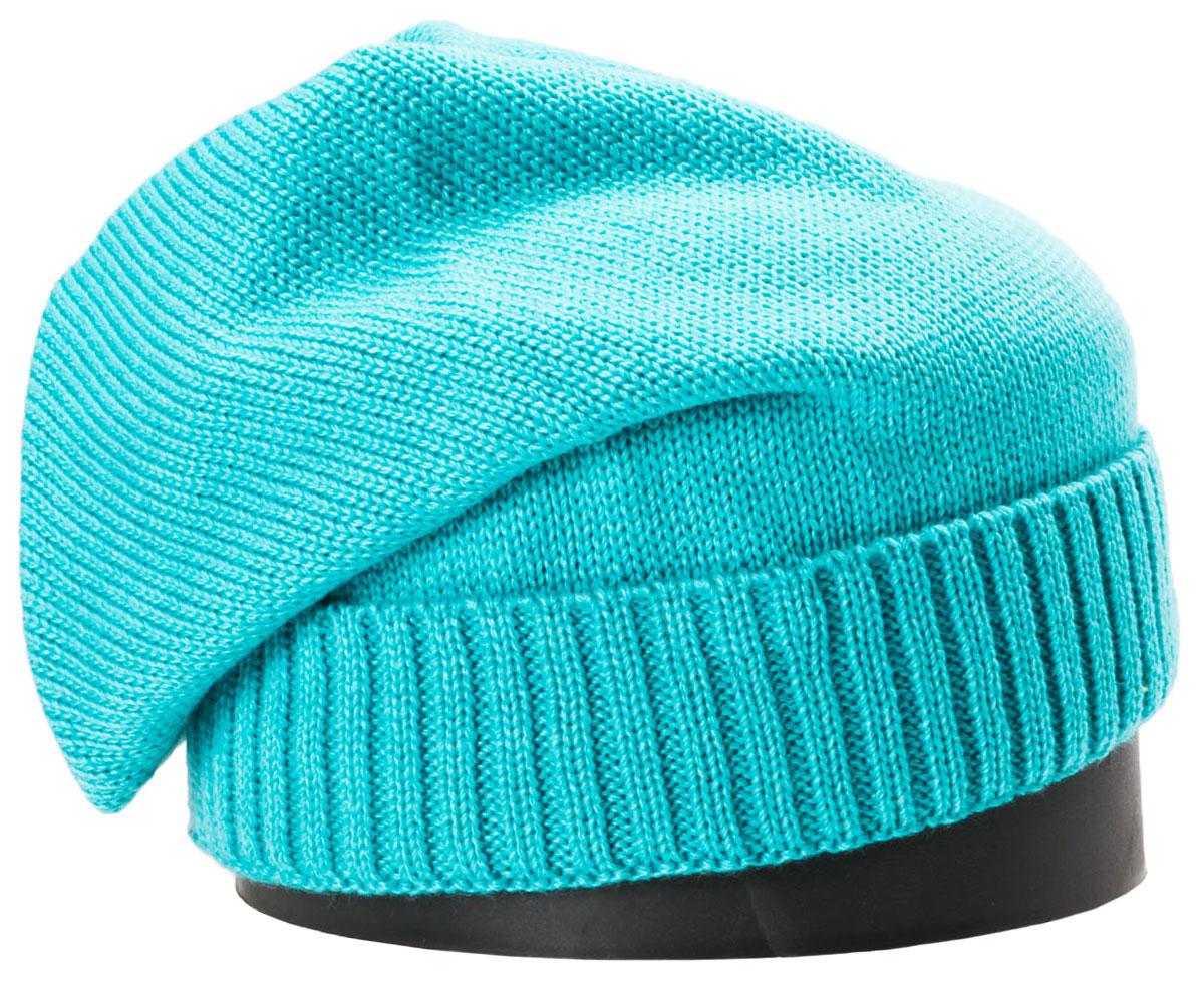 Шапка женская Vittorio Richi, цвет: бирюзовый. NSH150704. Размер 56/58NSH150704Стильная женская шапка Vittorio Richi отлично дополнит ваш образ в холодную погоду. Модель, изготовленная из шерсти с добавлением полиамида, максимально сохраняет тепло и обеспечивает удобную посадку. Шапка дополнена сзади декоративным элементом и сбоку фирменной нашивкой. Привлекательная стильная шапка подчеркнет ваш неповторимый стиль и индивидуальность.