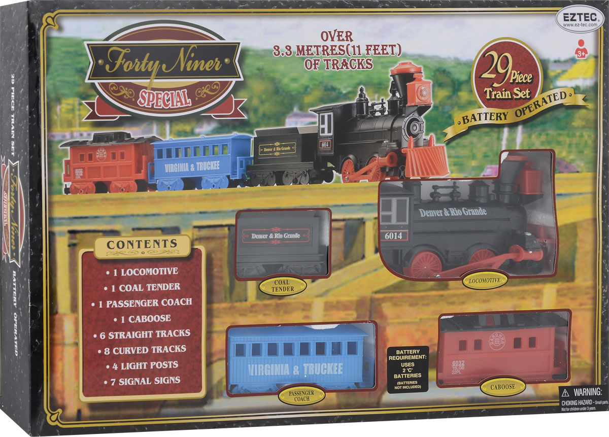 EZTEC Железная дорога Forty Niner Special Train Set