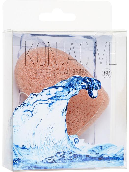 Beauty Bar Спонж Конняку для лица, с розовой глиной820671Спонж для умывания лица Konjac Sponge помогает идеально очистить кожу лица. Подходит для любого типа кожи. Произведена из натурального природного материала-корень коньяку.