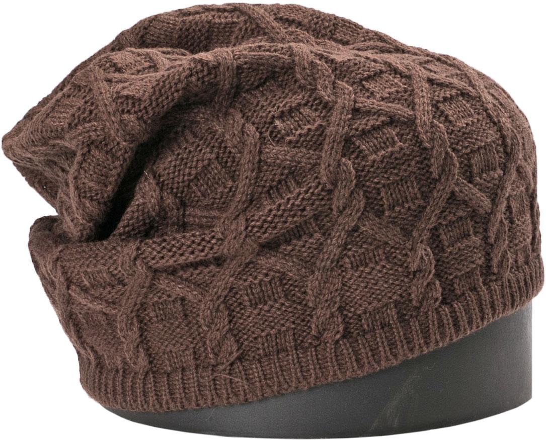 Шапка женская Vittorio Richi, цвет: кофейный. NSH417026. Размер 56/58NSH417026Стильная женская шапка Vittorio Richi отлично дополнит ваш образ в холодную погоду. Модель, изготовленная из шерсти с добавлением акрила, максимально сохраняет тепло и обеспечивает удобную посадку. Шапка дополнена ажурной вязкой и сбоку фирменной нашивкой. Привлекательная стильная шапка подчеркнет ваш неповторимый стиль и индивидуальность.