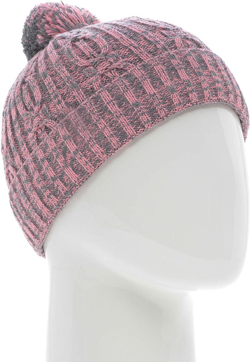 Шапка женская Vittorio Richi, цвет: розово-серый. NSH150929. Размер 58/60NSH150929Шапка женская Vittorio Richi выполнена из шерсти и акрила. Подкладка на флисе. Модель дополнена помпоном.Уважаемые клиенты!Размер, доступный для заказа, является обхватом головы.