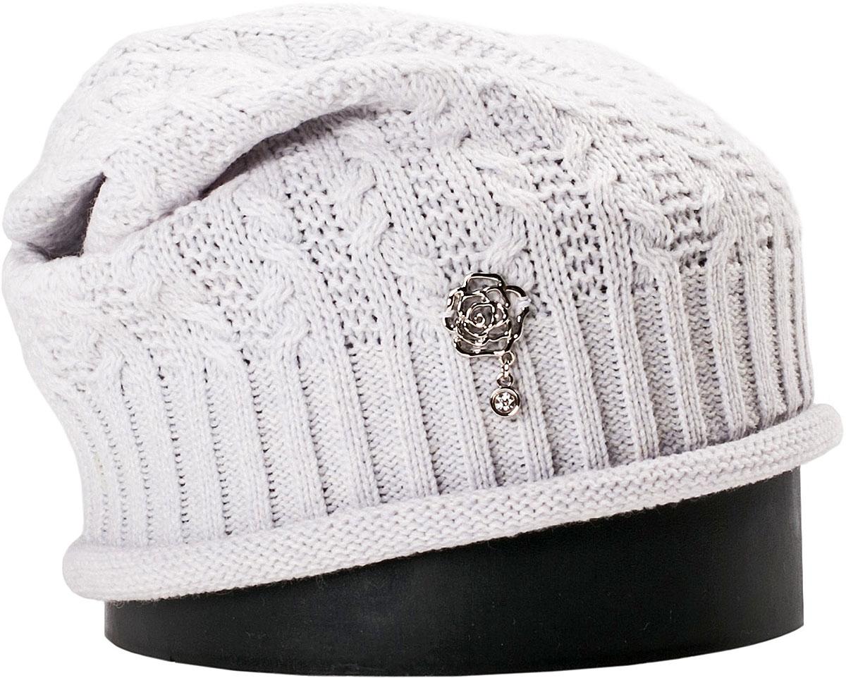 Шапка женская Vittorio Richi, цвет: светло-голубой меланж. NSH150818. Размер 56/58NSH150818Стильная женская шапка Vittorio Richi отлично дополнит ваш образ в холодную погоду. Модель, изготовленная из шерсти с добавлением акрила, максимально сохраняет тепло и обеспечивает удобную посадку. Шапка дополнена ажурной вязкой и сбоку декоративным элементом. Привлекательная стильная шапка подчеркнет ваш неповторимый стиль и индивидуальность.