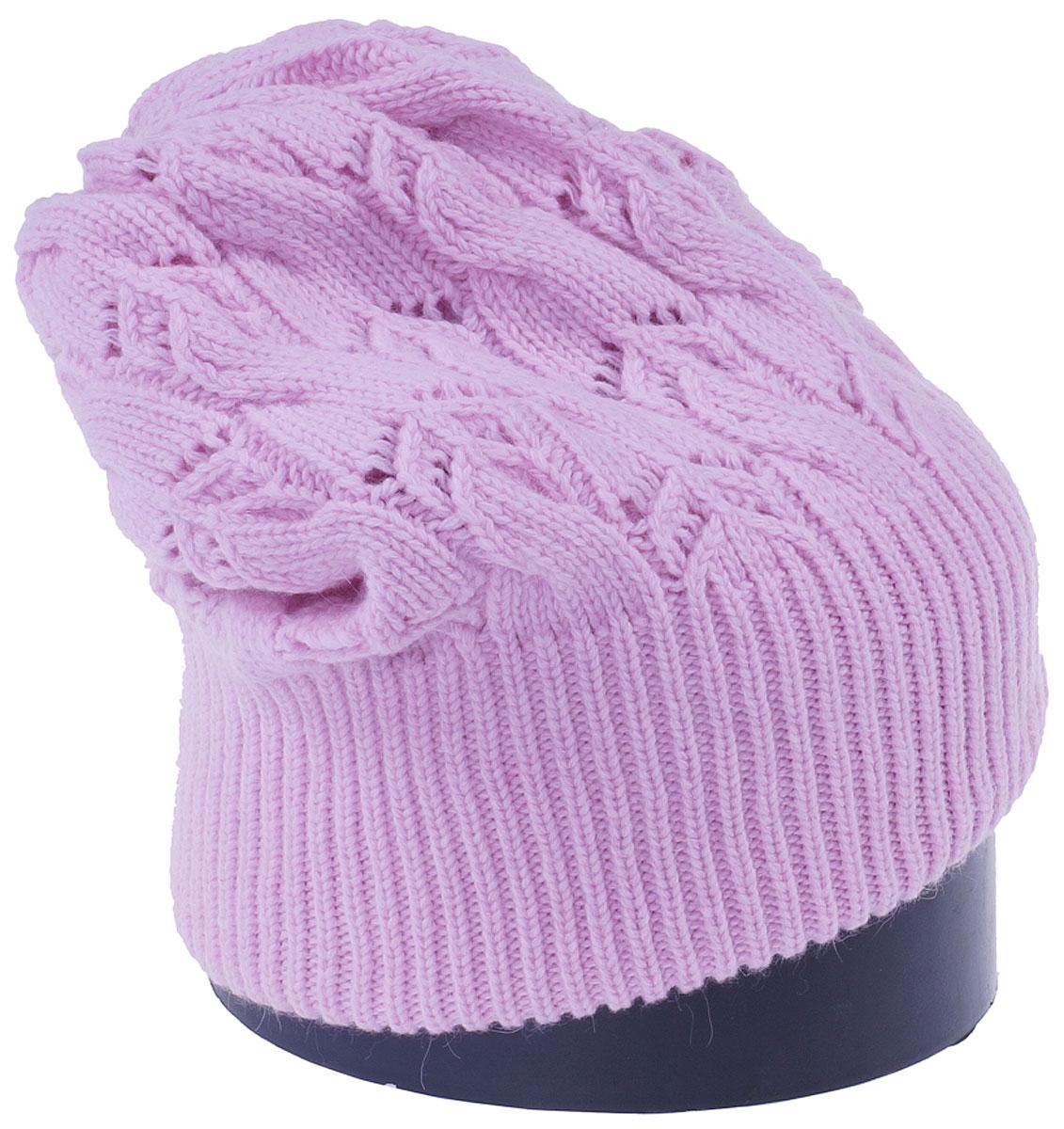 Шапка женская Vittorio Richi, цвет: светло-розовый. Aut261858L-39/17. Размер 56/58Aut261858LСтильная женская шапка Vittorio Richi отлично дополнит ваш образ в холодную погоду. Модель, изготовленная из высококачественных материалов, максимально сохраняет тепло и обеспечивает удобную посадку. Шапка дополнена ажурной вязкой. Привлекательная стильная шапка подчеркнет ваш неповторимый стиль и индивидуальность.