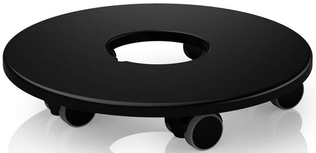 """Подставка """"Lechuza"""", выполненная из высококачественного пластика, оснащена колесами. Изделие предназначено для кашпо из серий """"Classico"""" и """"Quadro"""". Подставка обеспечивает объемным и тяжелым кашпо мобильность во всех направлениях.  С помощью такой передвижной подставки, вы сможете озеленить любой уголок в доме, офисе, на даче или любых общественных местах. Изделие выдерживает вес до 180 кг при условии  использования непосредственно с кашпо линейки """"Lechuza"""", для которых они  конструктивно предназначены.  Диаметр подставки: 30 см. Подходит для кашпо диаметром 50 см."""