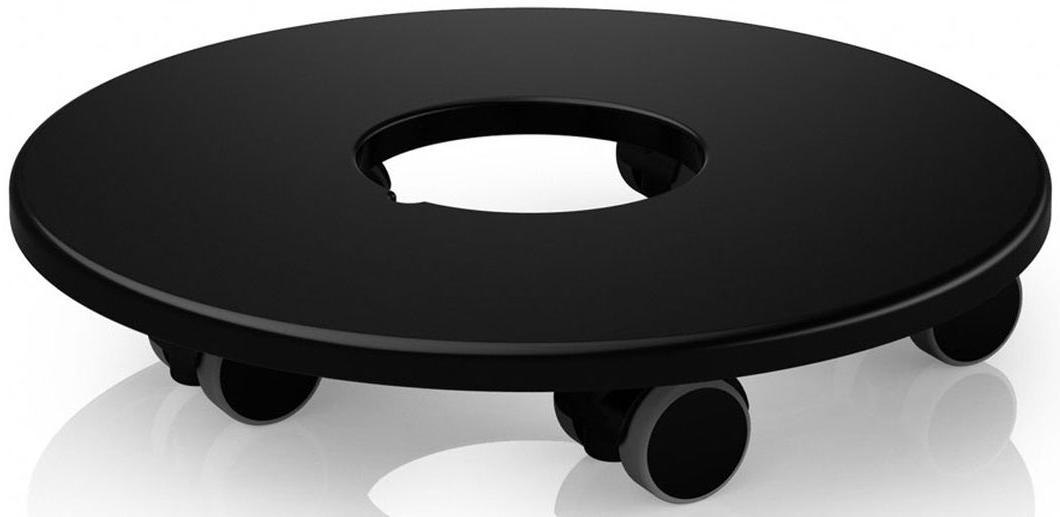 """Подставка """"Lechuza"""", выполненная из высококачественного пластика, предназначено для кашпо из серий """"Classico"""" и """"Quadro"""". Изделие оснащено пятью прорезиненными колесами. Такая подставка обеспечивает объемным и тяжелым кашпо мобильность во всех направлениях. С помощью передвижной подставки """"Lechuza"""", вы сможете озеленить любой уголок в доме, офисе, на даче или любых общественных местах.  Диаметр поставки: 25,5 см.Внутренний диаметр: 10 см."""