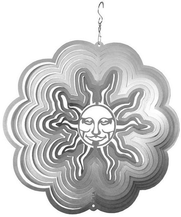 """Фигурка Gala """"Солнце"""", выполненная из металла, вращается при помощи ветра. Она позволит создать оригинальную декорацию, которая украсит собой ваш сад и добавит в него ярких красок.   Прочная и износостойкая фигурка будет радовать вас много лет. Декоративные садовые фигурки представляют собой последний штрих при создании ландшафтного дизайна дачного или приусадебного участка. Они позволяют создать правдоподобную декорацию и почувствовать себя среди живой природы. Кроме этого, веселые и незатейливые, они поднимут настроение вам, вашим друзьям и родным."""