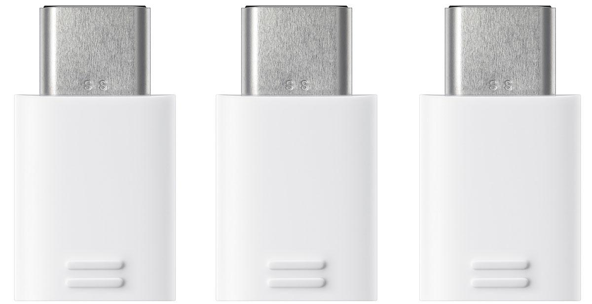 Samsung EE-GN930K, White комплект переходников microUSB -Type-C, 3 шт