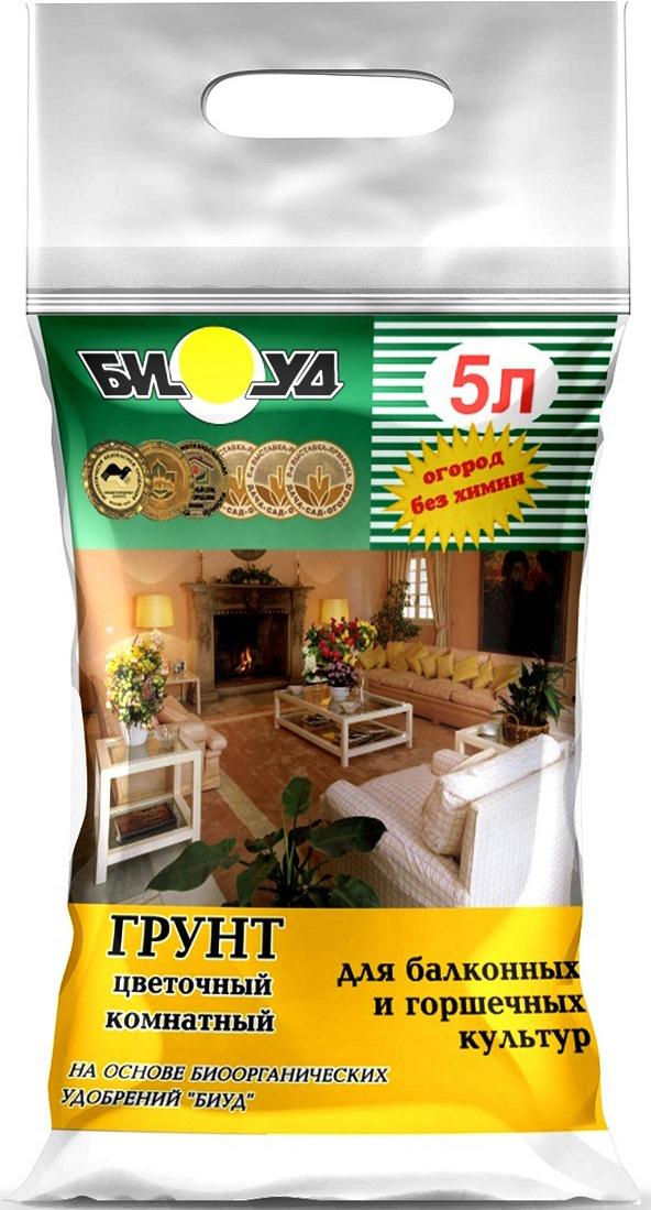 Грунт БИУД Универсальный, цветочный, комнатный, 5 л грунт для комнатных растений фаско цветочный 5 л