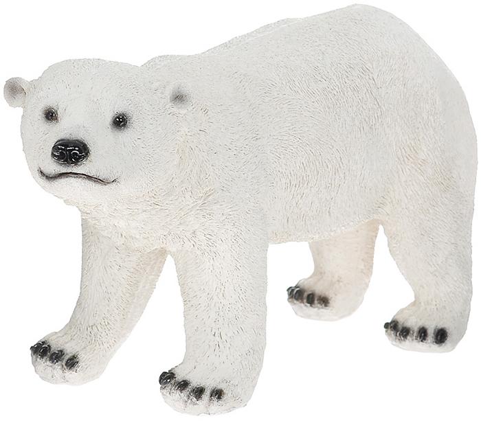 """Декоративная фигурка """"Белый медведь"""", выполненная из полистоуна, - это долговечное и износостойкое изделие, которое не потеряет яркости красок и четкости форм даже после длительной эксплуатации.   Садовые фигурки и украшения, изготовленные из данной модификации искусственного камня, отличаются прочностью, красотой и стойкостью к любым негативным климатическим воздействиям. Данная фигурка может выступать в качестве красивого и оригинального сувенира для друзей и близких.   Дом, украшенный оригинальными фигурками, приобретает свою индивидуальность, свой характер. Неожиданные и оригинальные декоративные фигурки - это самый простой и доступный способ сделать дом, дачу или приусадебную территорию неповторимыми. Характеристики:   Материал: полистоун. Размер фигурки (В х Ш х Д): 24 см х 13 см х 44 см. Размер упаковки: 55 см х 28 см х 26 см. Артикул: ММ-005."""