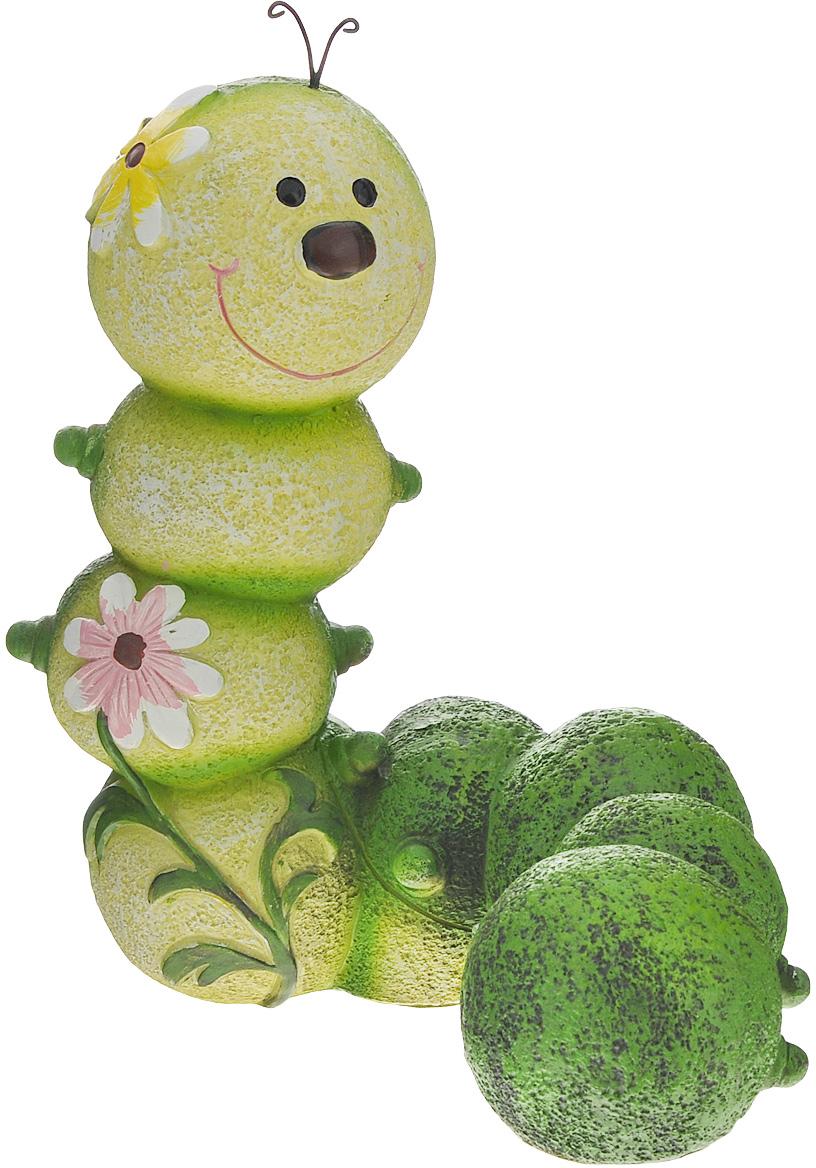 Фигурка садовая Green Apple Гусеница, 18,5 х 12,5 х 23 см юрина о садовые беседки элементы садового дизайна