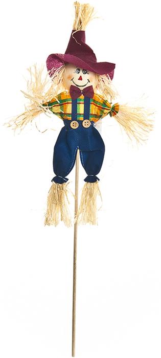 Украшение на ножке Village People Соломенный человечек, цвет: синий, высота 50 см украшение на ножке village people приветливая бабочка высота 50 см
