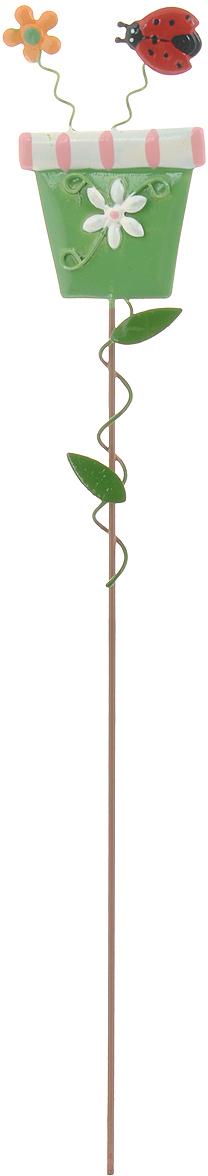 """Украшение на ножке Village People """"Солнечная клумба"""" поможет вам дополнить экстерьер красивой и яркой деталью. Такое украшение очень просто вставляется в землю с помощью длинной ножки, оно отлично переносит любые погодные условия и прослужит долгое время. Идеально подходит для декорирования садового участка, грядок, клумб, домашних цветов в горшках, а также для поддержки и правильного роста декоративных растений.   Размер декоративного элемента: 4,5 см х 7,5 см. Высота: 30 см."""