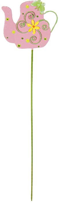 Украшение на ножке Village People Чайничек, цвет: розовый, высота 27 см спрейер village people цвет белый зеленый 500 мл