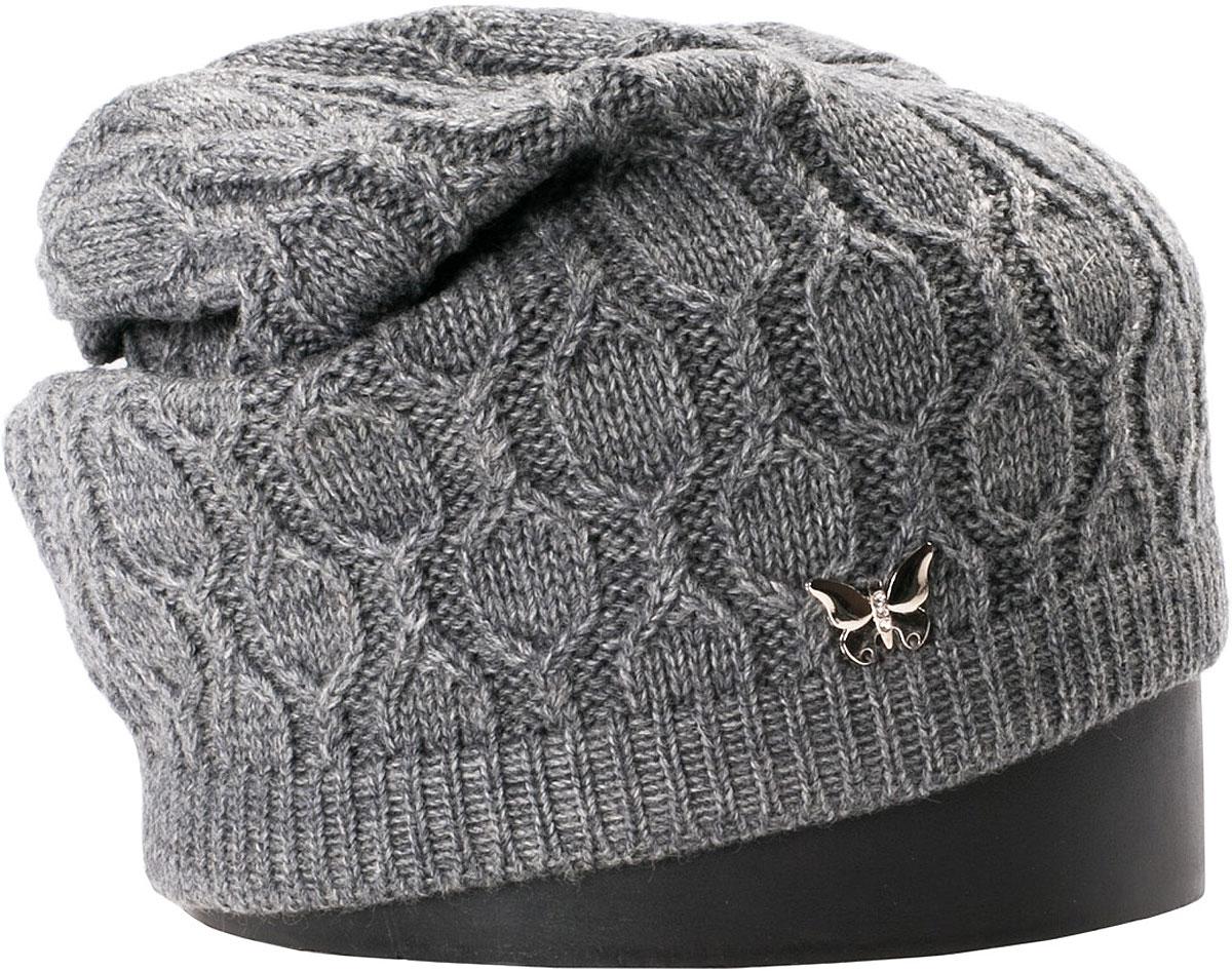Шапка женская Vittorio Richi, цвет: серый. NSH415024. Размер 56/58 шапка женская sela цвет серый hak 141 019w 6404 размер 56 58
