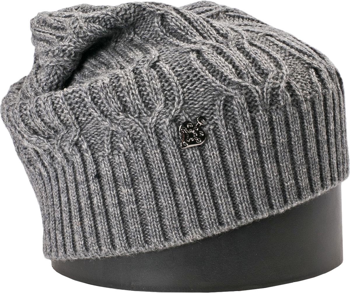 Шапка женская Vittorio Richi, цвет: серый. NSH900107. Размер 56/58 шапка унисекс с полной запечаткой printio цветочный сад