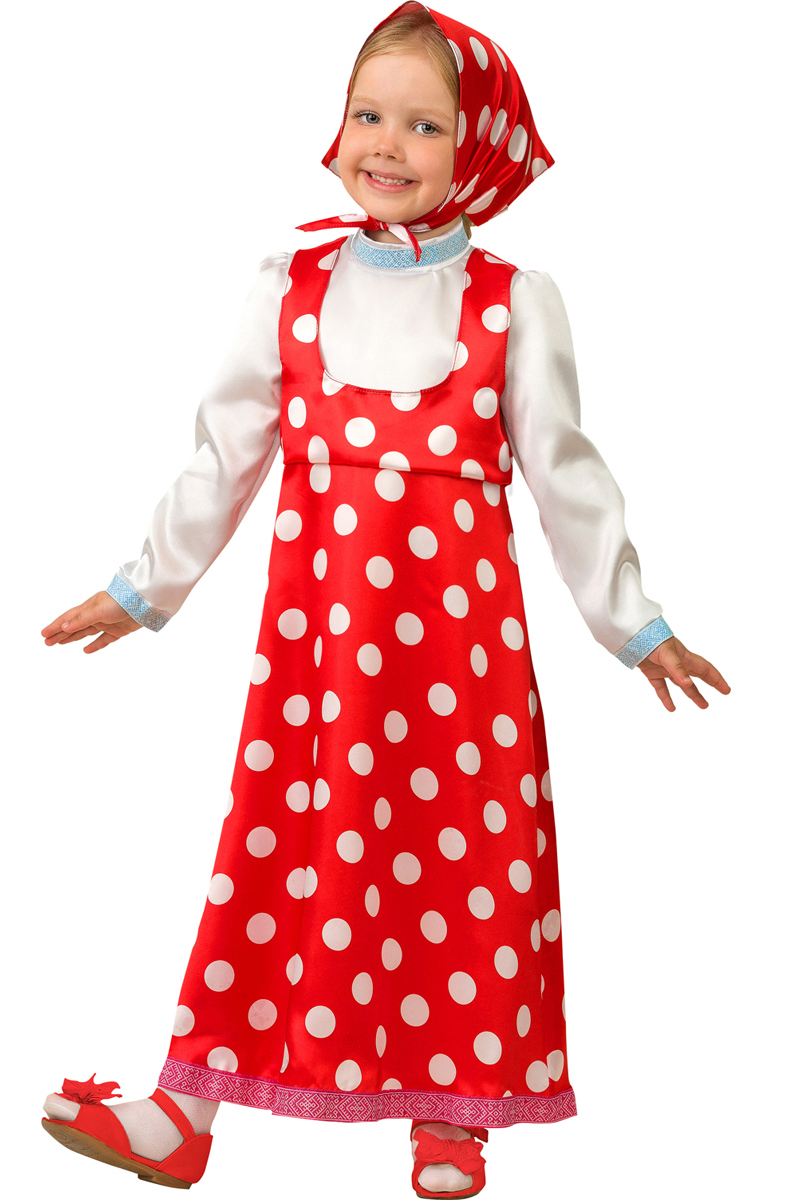 Батик Костюм карнавальный для девочки Маша размер 28 батик костюм карнавальный ежик размер 28