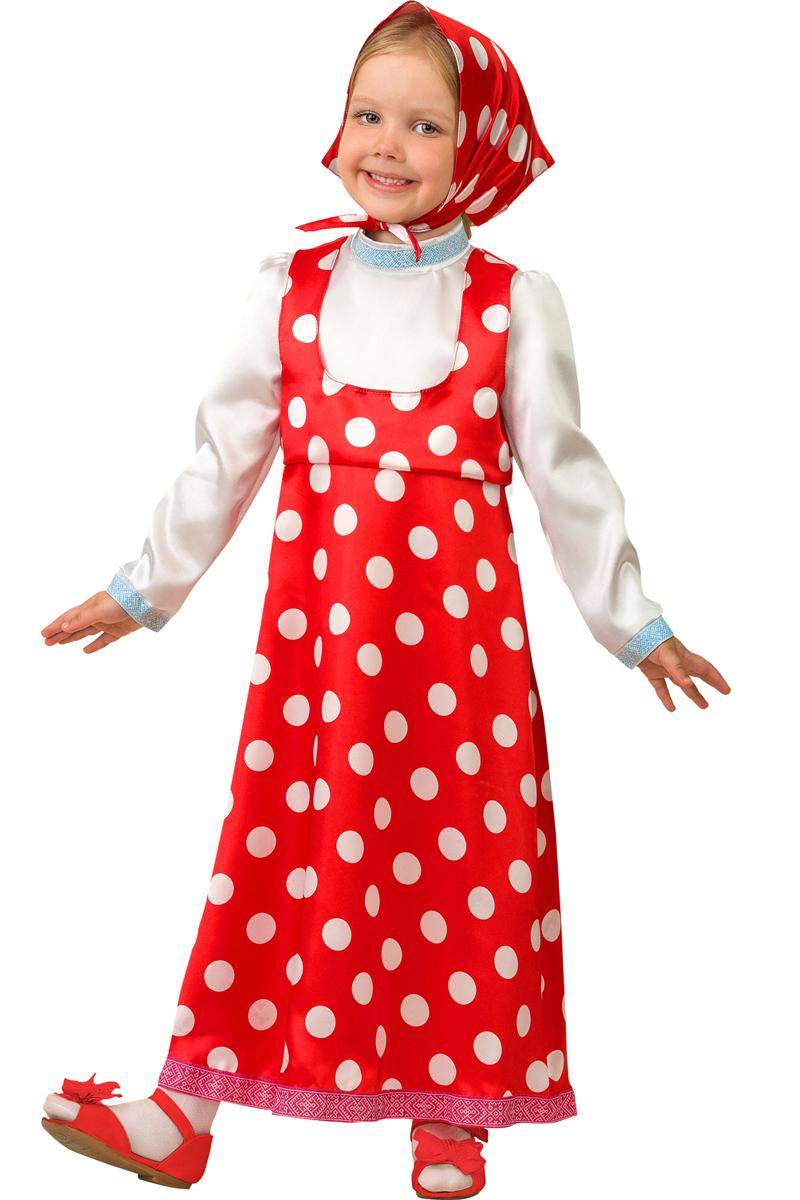 Батик Костюм карнавальный для девочки Маша цвет красный белый размер 30 карнавальные костюмы батик карнавальный костюм аленушка