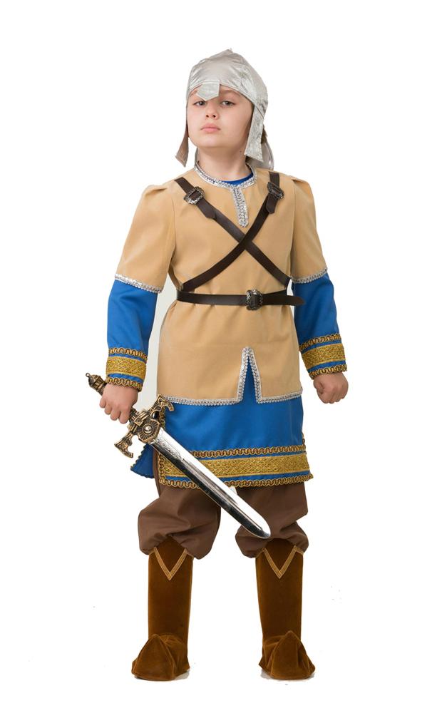 Батик Костюм карнавальный для мальчика Алеша Попович размер 34 карнавальные костюмы батик карнавальный костюм аленушка