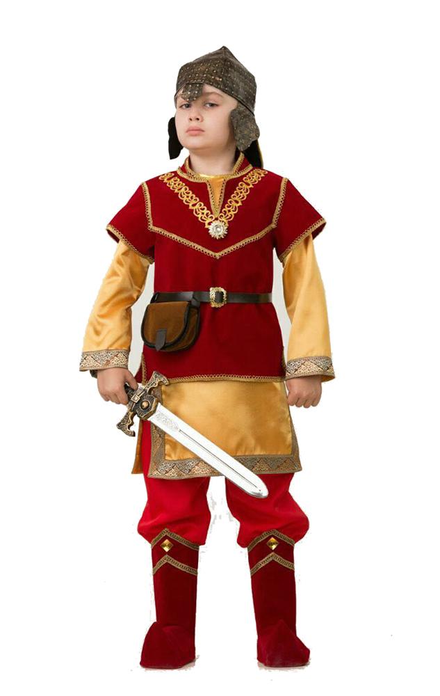 Батик Костюм карнавальный для мальчика Добрыня размер 38 артпостель в москве купить