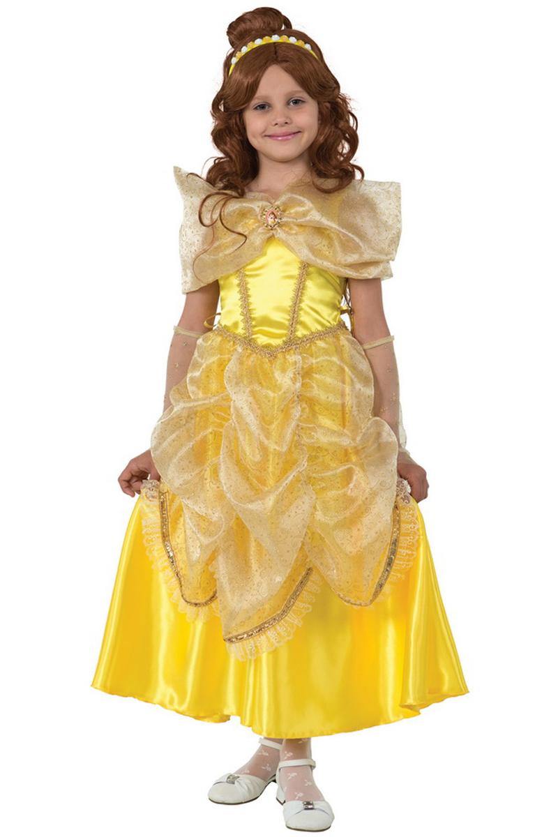 Батик Костюм карнавальный для девочки Принцесса Белль размер 36 mattel принцесса c домиком и аксессуарами принцессы дисней