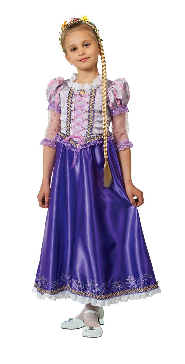 Батик Костюм карнавальный для девочки Принцесса Рапунцель цвет фиолетовый розовый размер 38