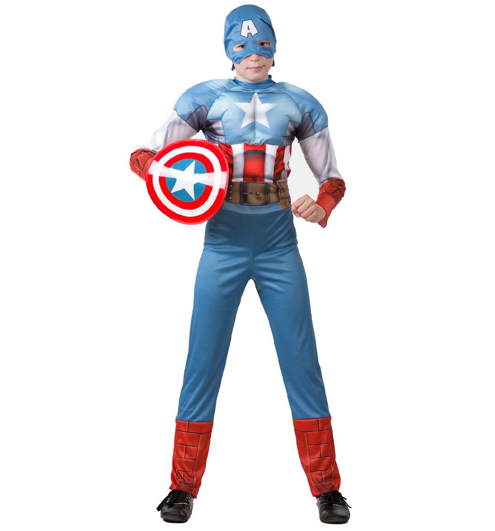 Батик Костюм карнавальный для мальчика Капитан Америка размер 34 батик карнавальный костюм капитан флинт