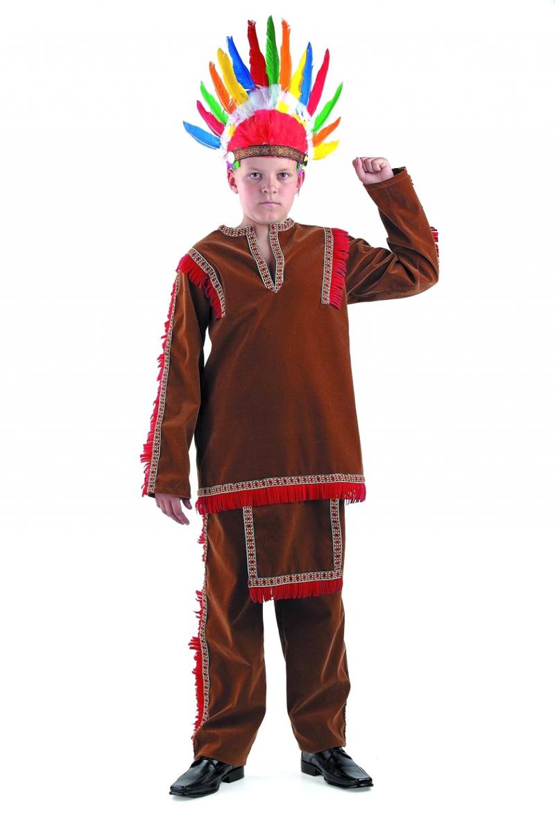 Батик Костюм карнавальный для мальчика Индеец размер 34 батик костюм карнавальный для мальчика витязь размер 34