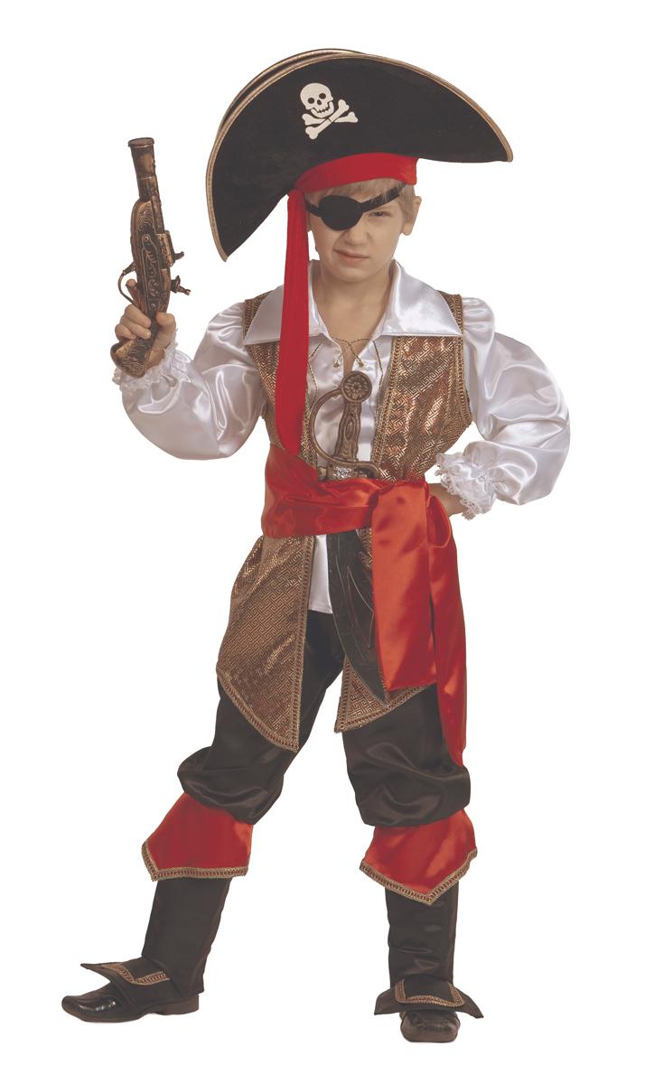 Батик Костюм карнавальный для мальчика Капитан Флинт размер 38 костюм зловещего шута детский 38 40