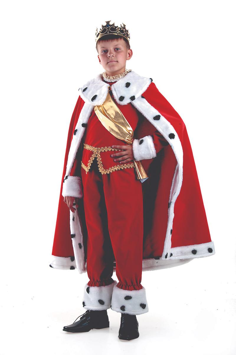 Батик Костюм карнавальный для мальчика Король цвет красный белый размер 30 батик костюм карнавальный для мальчика вельможа цвет бордовый размер 38